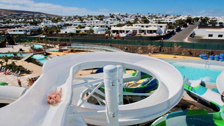 Thrilling Toboggan slides Lanzarote Aqualava waterpark