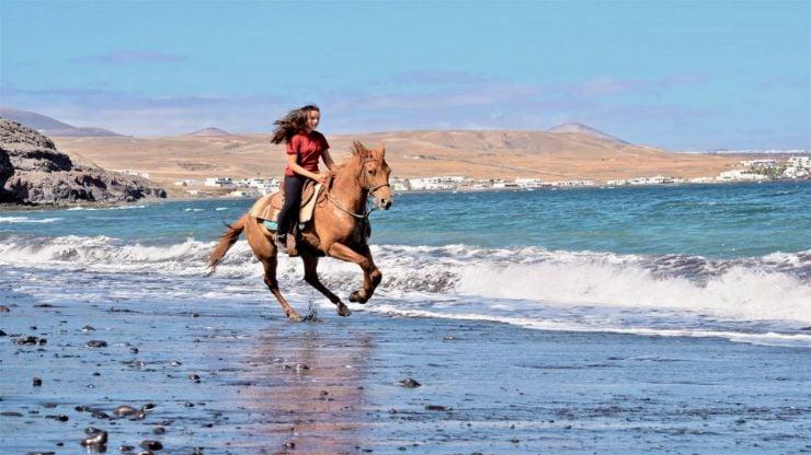 Horse riding Lanzarote beach tour
