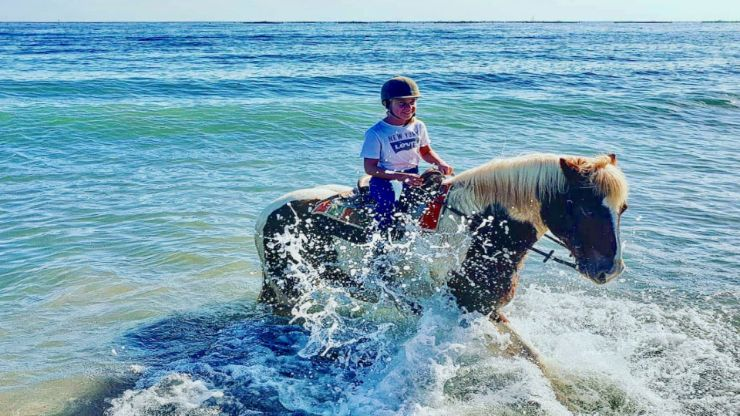 get into the water with your horse
