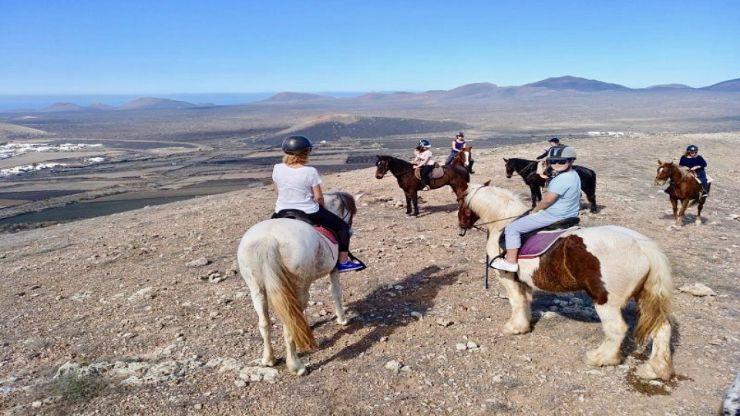 Lanzarote horse riding Tinasoria route