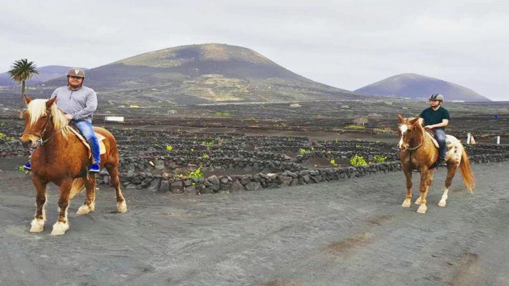 Explore Lanzarote wine plantation on a horse Tinasoria route