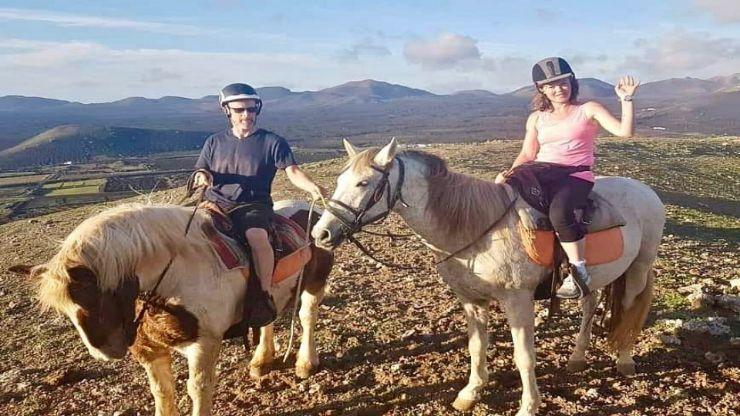 Scenic horseback ride Tinasoria Lanzarote