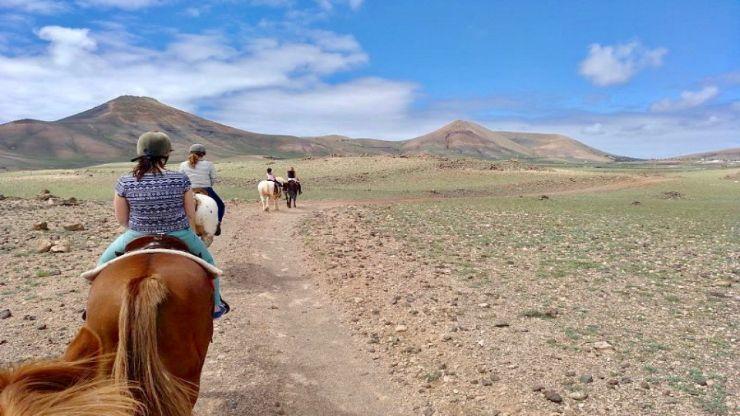 Lanzarote horseride in the interior landscape