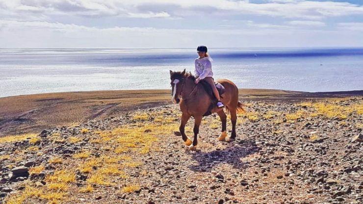 Horseback riding Lanzarote heartland to Puerto Calero