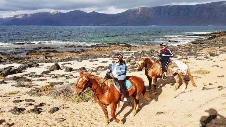 Horse riding on sand Lanzarote
