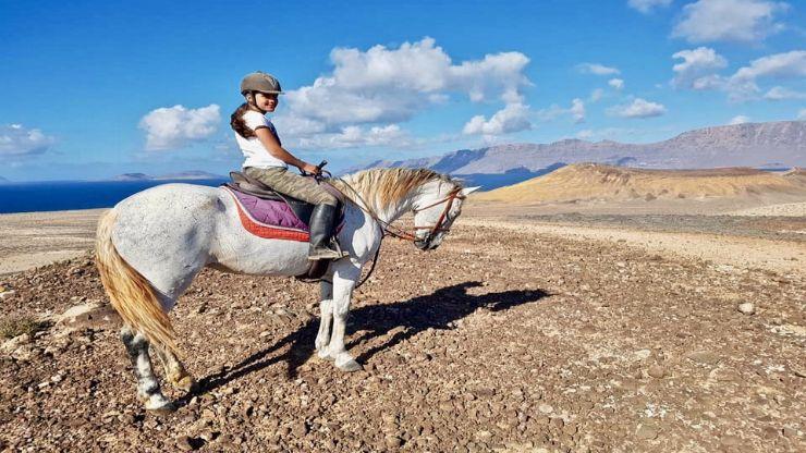 Scenic horseback riding Lanzarote