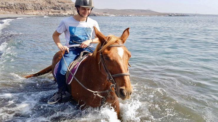Lanzarote beach horse riding excursion