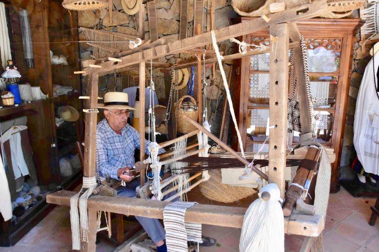Traditional weaving in Betancuria Fuerteventura