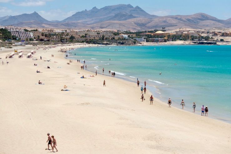 Corralejo natural park sand dune beach Fuerteventura