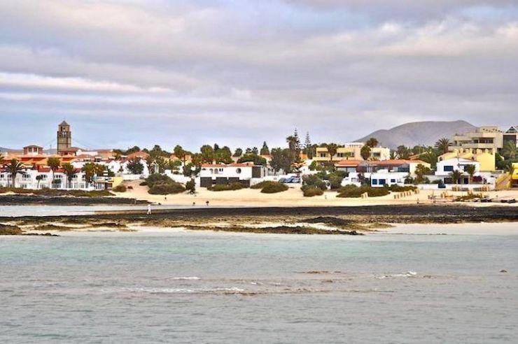 Corralejo town in Fuerteventura