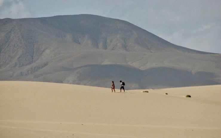 Corralejo sand dunes in Fuerteventura