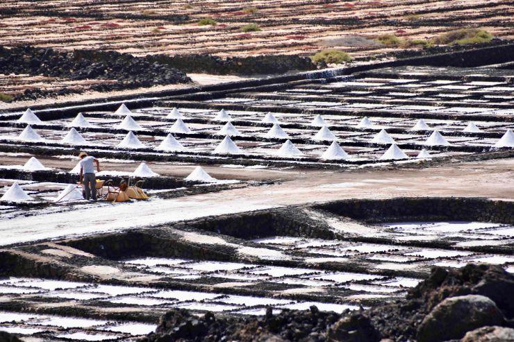 Janubio salt pans in Lanzarote Gran Tour