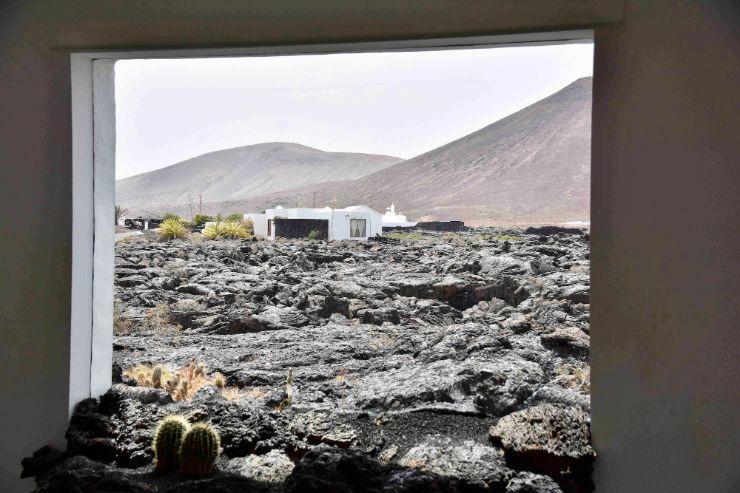Amazing lava fields looking out Cesar Manrique Foundation