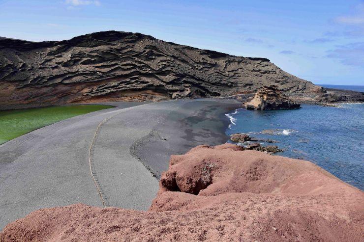 El Golfo coast in Lanzarote South Bus Tour