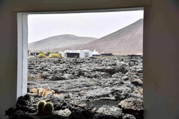 Lava fields looking out Cesar Manrique Foundation