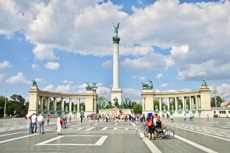 Majestic Heroes square in Budapest