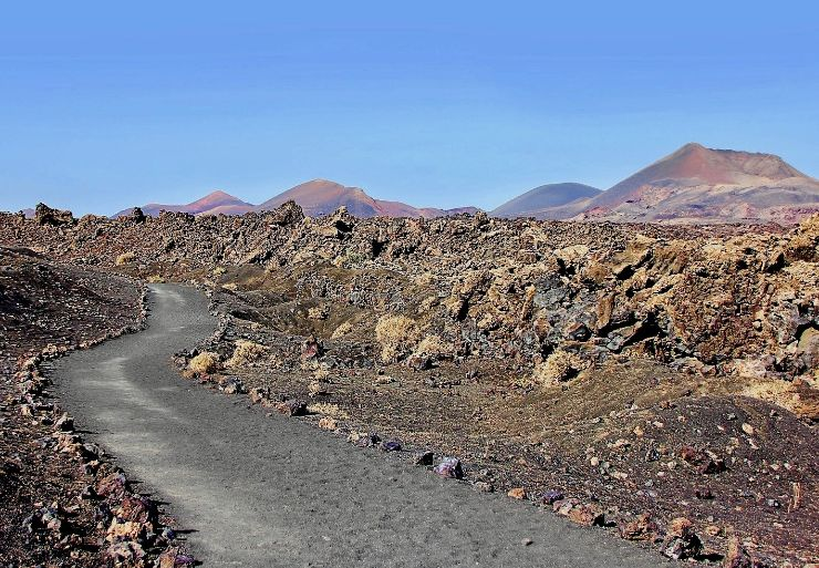 Volcanic landscapes in Lanzarote