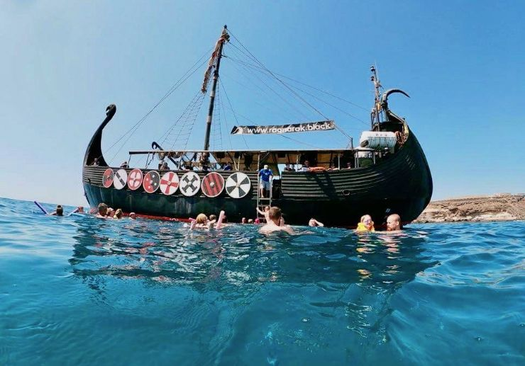 Viking boat tour with swimming and snorkelling