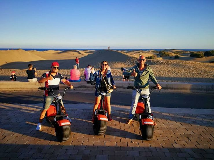 Sunset tour Maspalomas on e-scooter