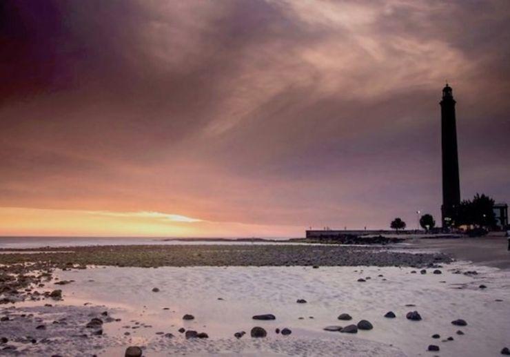 Maspalomas lighthouse sunset