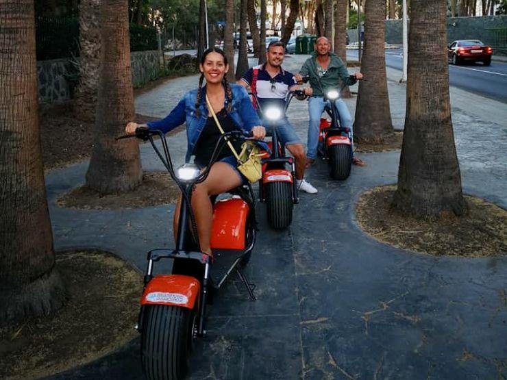 Sunset e-scooter tour Maspalomas Meloneras
